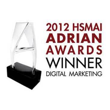 """Silver Adrian Award in Digital Marketing Category, Website"" in the 56th HSMAI Adrian"