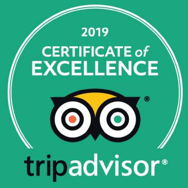 "Tripadvisor ""Certificate of Excellence"" 2018-2019"