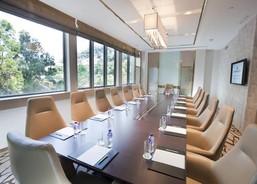 Banquet Room Flexible meeting rooms with a private restroom and breakout room