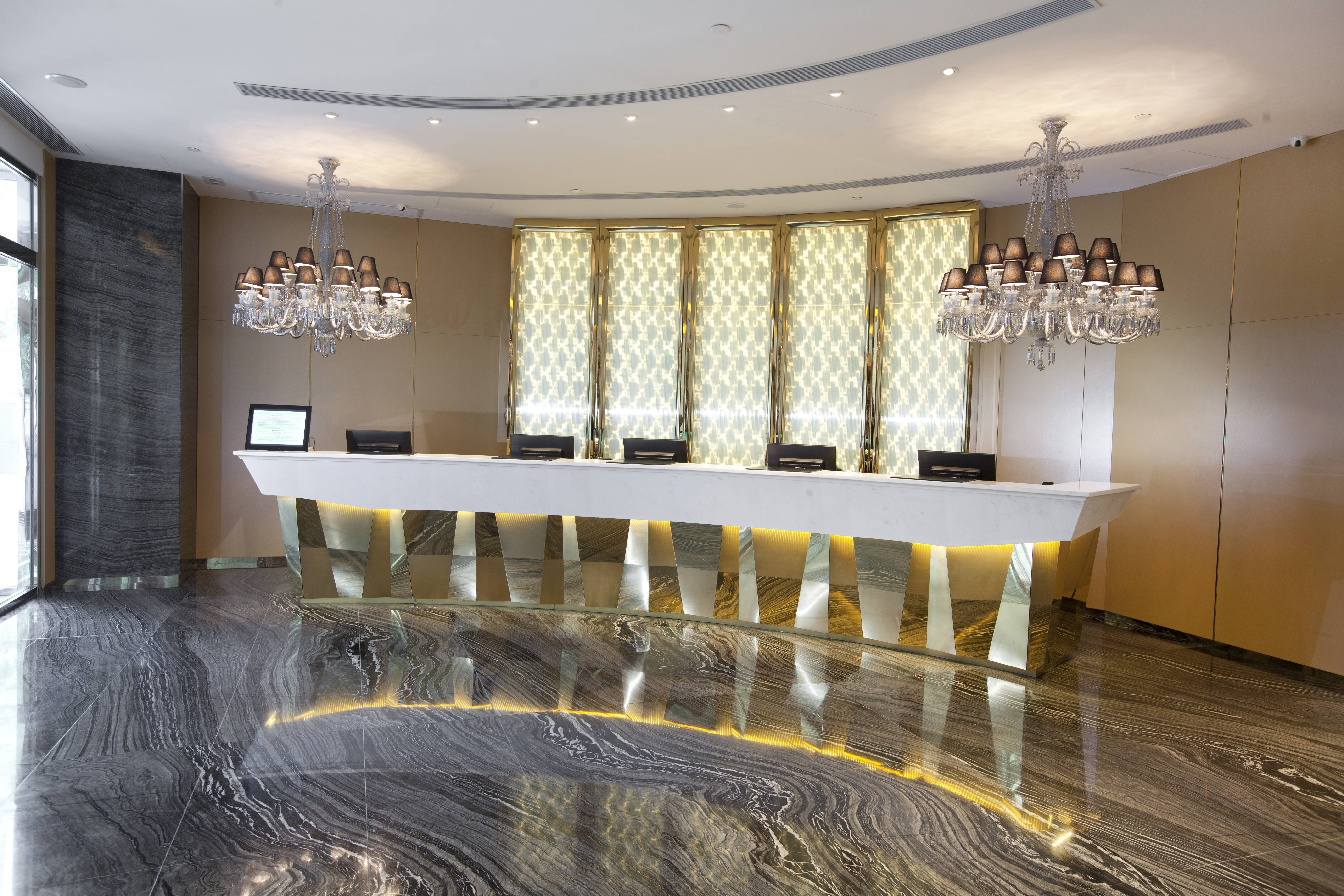 Lobby  Our spacious and welcoming lobby is stylishly designed and furnished