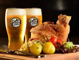 German Style Pork Knuckles & Sauerkraut with 2 Hong Kong craft beer