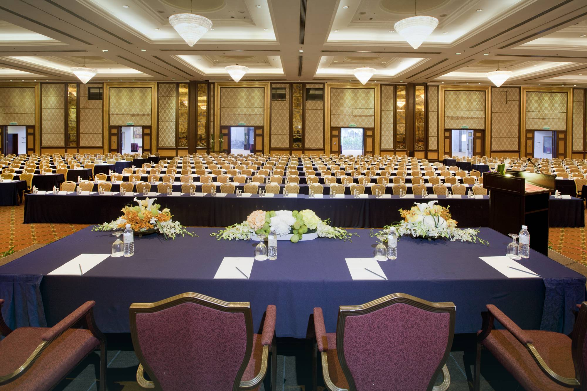 Dorsett Grand Subang pillarless ballroom…the ideal venue for international conferences, conventions and seminars
