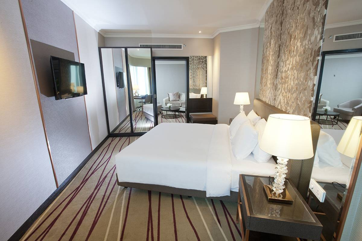 The Dorsett Suite One-bedroom suite with spacious living room, ideal for business travellers
