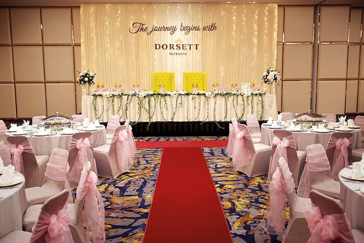 Inspired Wedding at Dorsett Putrajaya (Malay Wedding) A Malay wedding table set-up with a touch of class