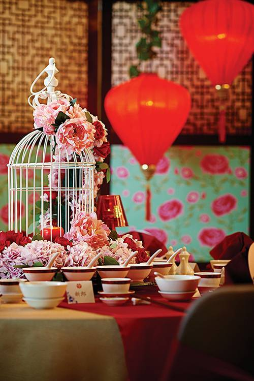 An inspired wedding table set-up for an elegant Chinese wedding