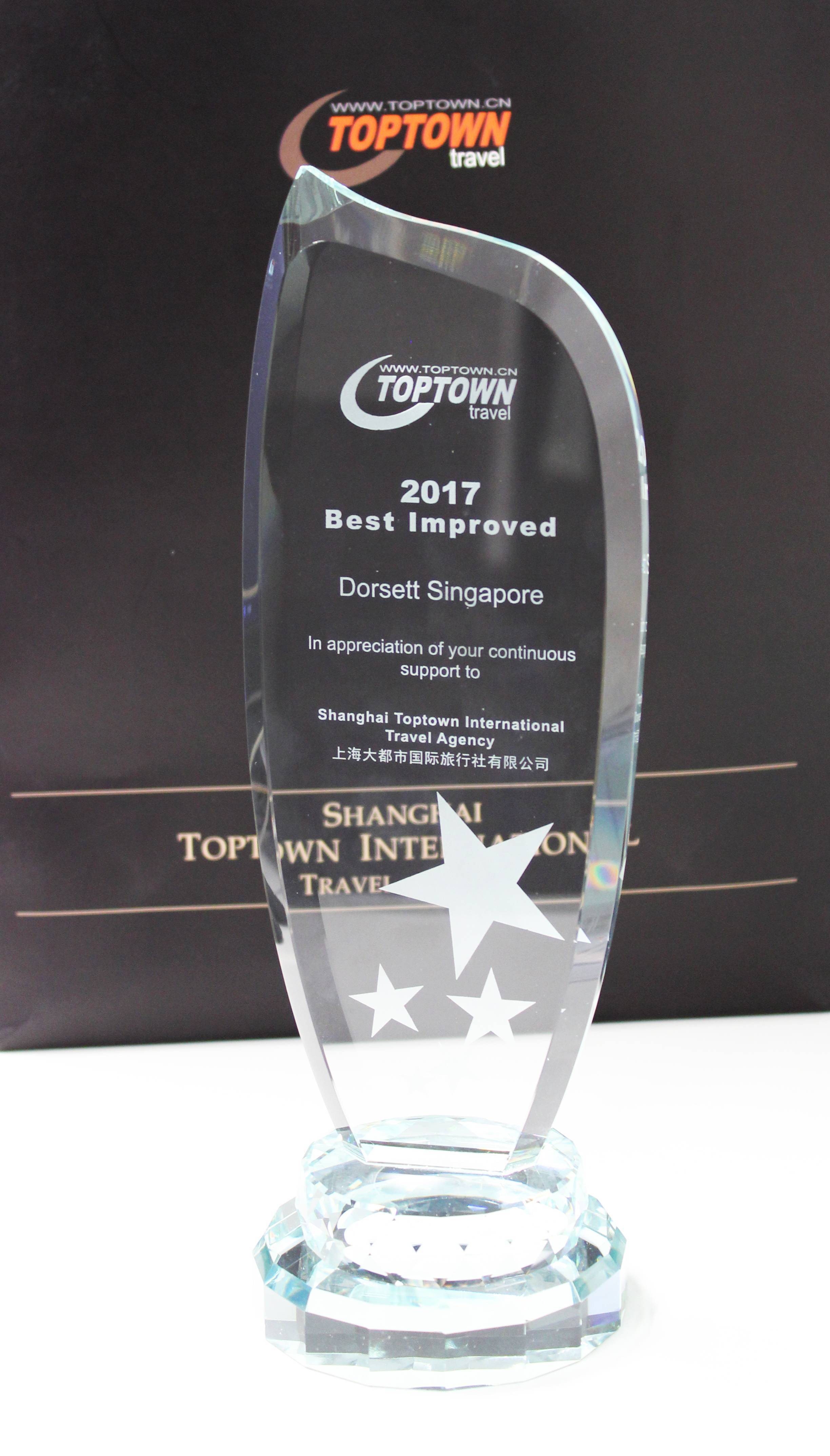 2017 Best Improved - Shanghai Toptown International Travel Agency
